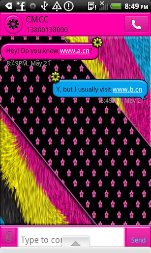 GO SMS THEME BrightFurNFlwers