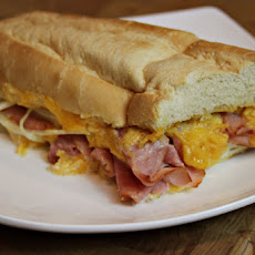 Top to Bottom Ham and Cheese Bread