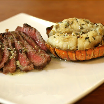 Grilled Steak & Lobster Tails