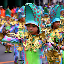 Talisay High School Performers by Ferdinand Ludo - Babies & Children Child Portraits ( dancing, ages 12-15 category, performing streets of cebu, sinulog 2015-high school category )