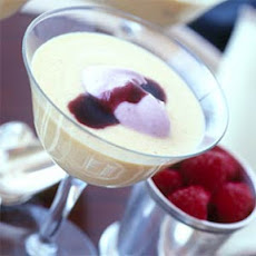 Chilled Georgia Peach Soup with Raspberry Cream