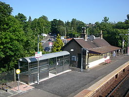 Busby Train Station