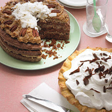 Chocolate Cake with Coconut-Pecan Frosting