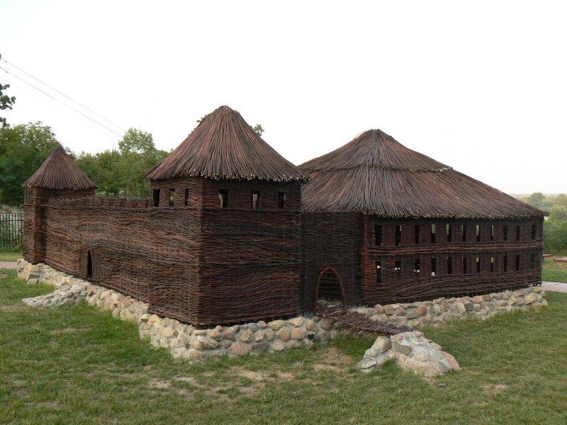 Wiklinowa makieta zamku w Solcu