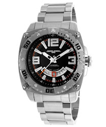 Jorg Gray Men's Textured Black Dial Stainless Steel
