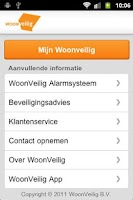 Screenshot of WoonVeilig Alarmsysteem