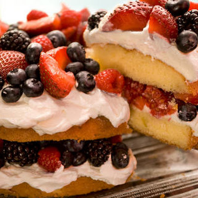Easy Berry Butter Cake