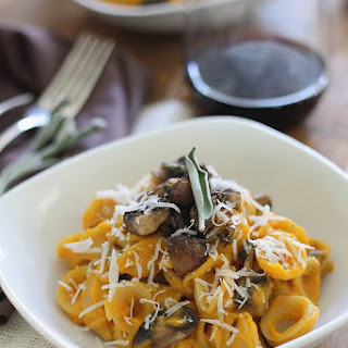Creamy Butternut Squash Pasta With Sage Mushrooms