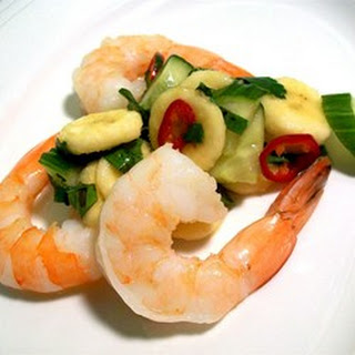 Thai Banana Salsa with King Prawns