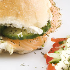 Salmon, Cucumber And Avocado Sarnie