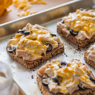 Open Faced Tuna & Cheese Sandwiches
