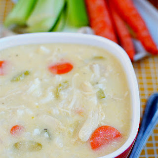 Cheesy Chicken & Rice Soup