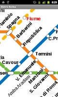 Screenshot of Rome Metro Map
