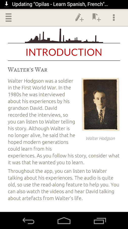 Walter Hodgson: Voice of WW1 Screenshot 0