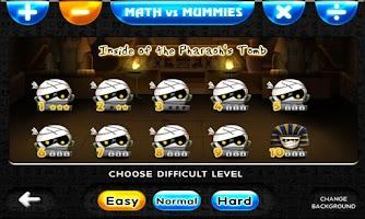 Screenshot of Math VS Mummies