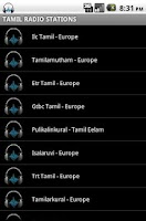 Screenshot of Tamil Radio Stations
