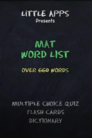 660+ MAT WORD LIST-Study Now.