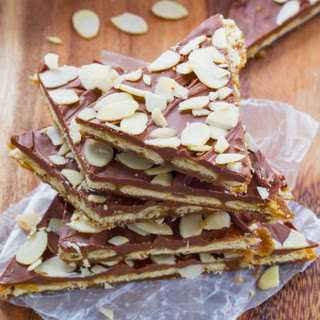 Almond Rum Saltine Toffee