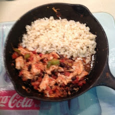 CHICKEN AND BLACK BEAN SKILLET MEAL