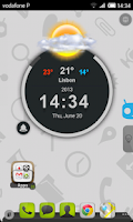 Screenshot of TSF Shell Cyanogen Light HD