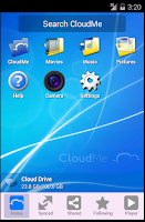 Screenshot of CloudMe