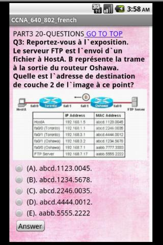 CCNA 640-802 Real Exam French