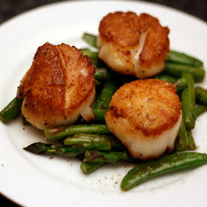 Scallops with Asparagus and Sugar Snap Peas