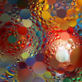 Swirling Oil Painting by Janet Herman - Abstract Macro ( water, abstract, macro, ellipses, spheres, swirls, painting, pychodelic, oil )