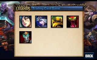 Screenshot of League of Legends Cards