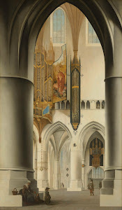 RIJKS: Pieter Jansz. Saenredam: Interior of the Church of St Bavo in Haarlem 1636