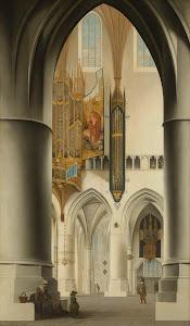 RIJKS: Pieter Jansz. Saenredam: Interior of the Church of St Bavo in Haarlem 1636