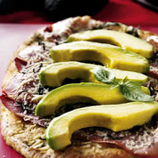 Avocado, Asiago and Prosciutto Pizza