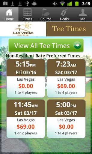 Las Vegas Golf Club Tee Times