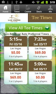 Las Vegas Golf Club Tee Times - screenshot