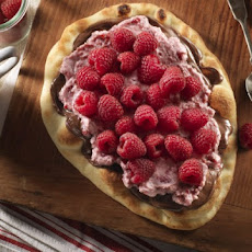Raspberry Nutella Naan Pizza