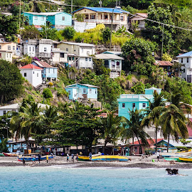 Fishing Village by Matt Meyers - Landscapes Travel ( vacation, st lucia, village, summit, travel, cruise, catamaran, coast )