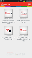 Screenshot of CompTIA CertMaster