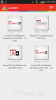 Screenshot of CompTIA CertMaster