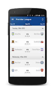 Scores Premier League - screenshot