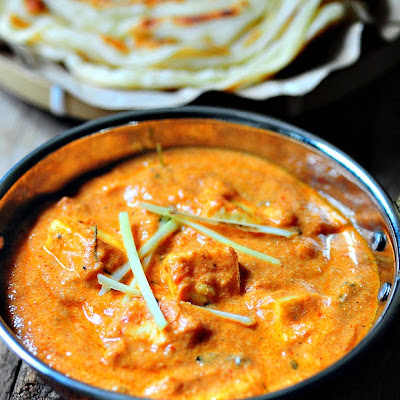 Paneer Makhani (Paneer Butter Masala) made in a Microwave