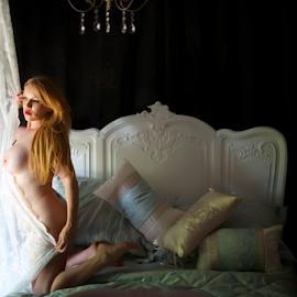 Goldee by Steve Smith - Nudes & Boudoir Boudoir ( chair, lace, art nude, bed, boudoir )
