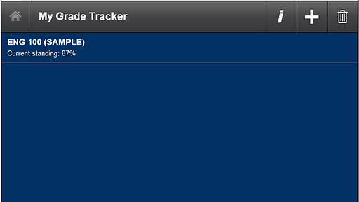 My Grade Tracker