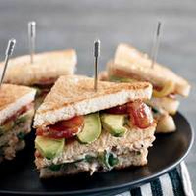 Double-Decker Chipotle Chicken Clubs