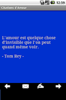 Screenshot of Citations d'amour