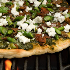 Bacon, Asparagus, and Goat Cheese Grilled Pizza Recipe