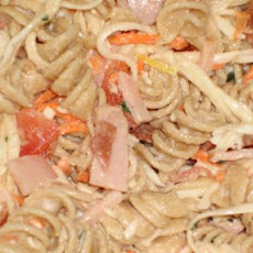 Turkey, Bacon Pasta Salad With Lemon Basil Dressing