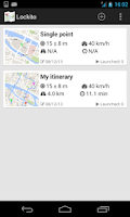Screenshot of Lockito – Fake GPS itinerary
