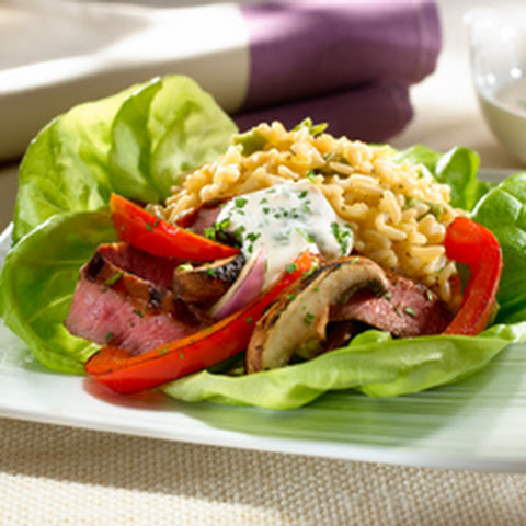 Cilantro Steak In Lettuce Cups