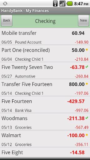 HandyBank - screenshot