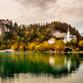 Bled lake by Alan Grubelić - Buildings & Architecture Public & Historical ( church, autumn, slovenia, bled, lake )